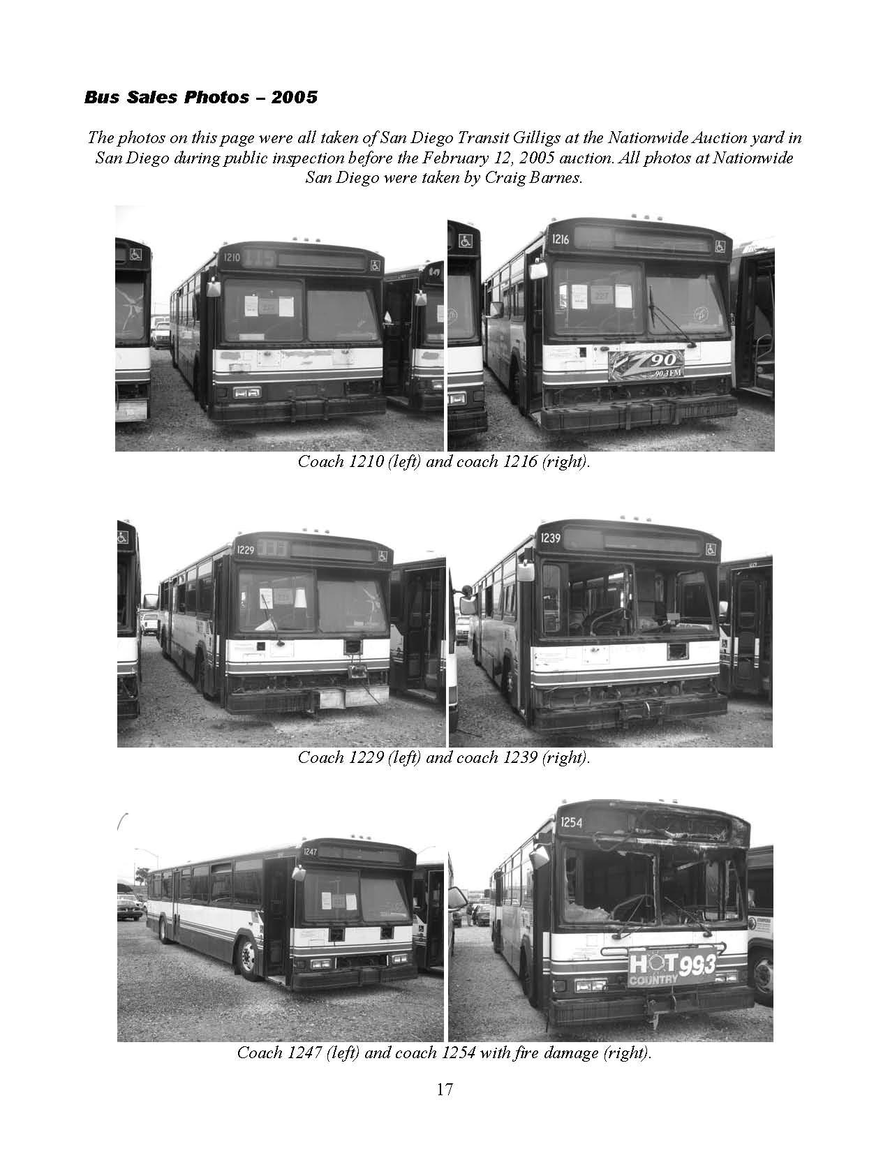 2005-2006 Bus auction and sales report