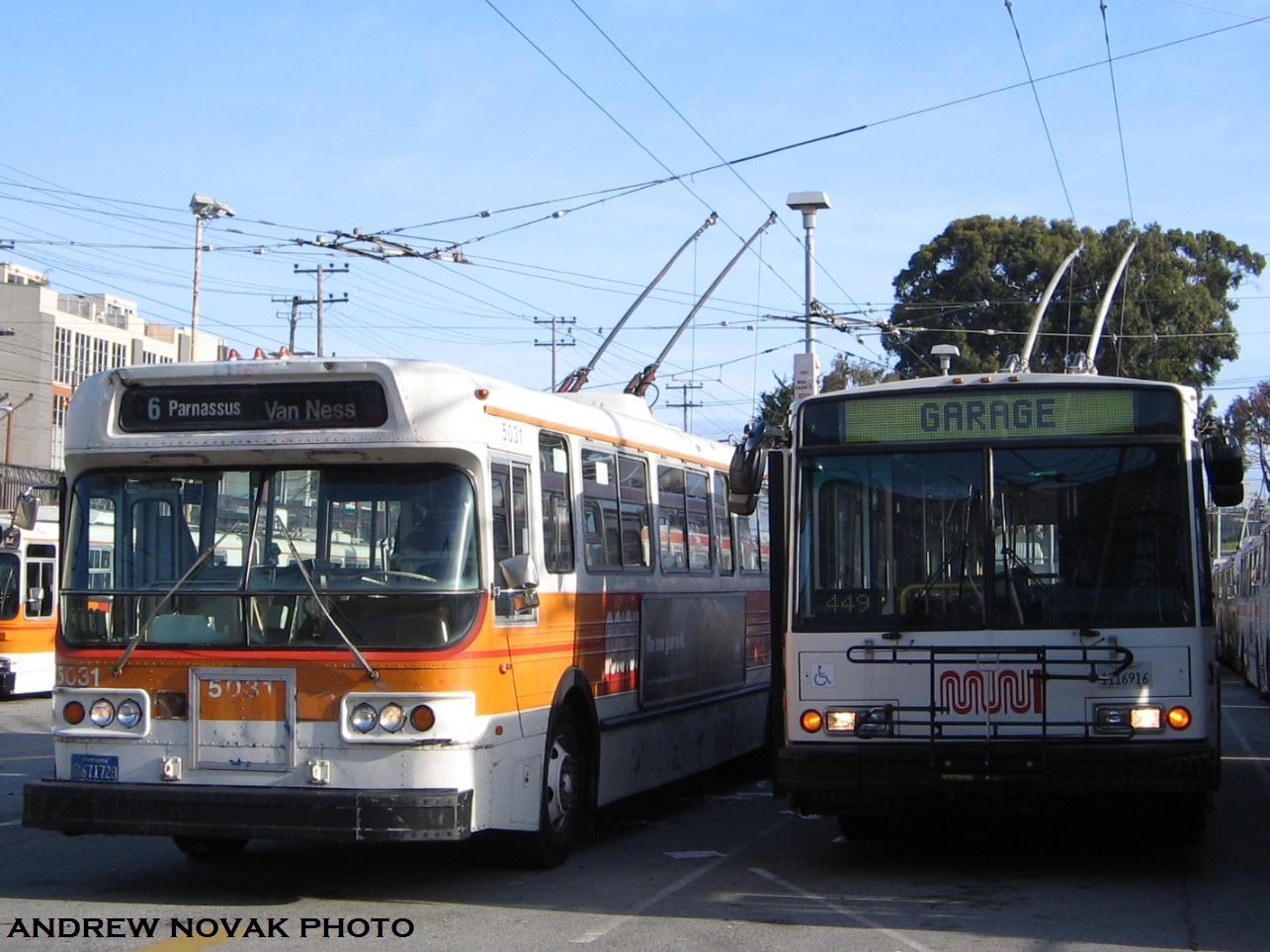 Muni Trolleys San Francisco sf Muni San Francisco